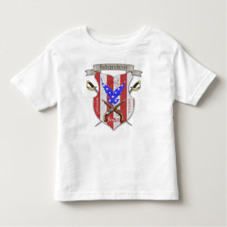 Independence Day Cross Sword Crest Toddler T-Shirt
