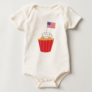 Independence Day Cupcake Baby Bodysuit