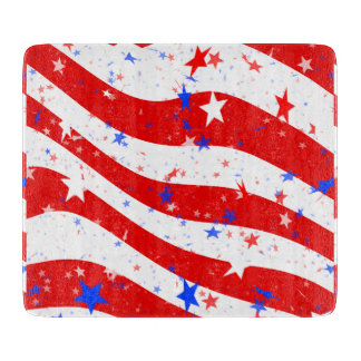 Independence Day Curved Stars and Stripes
