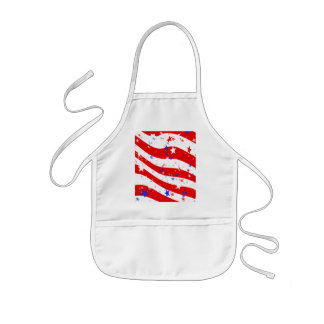 Independence Day Curved Stars and Stripes Kids' Apron