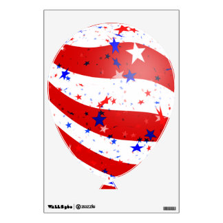 Independence Day Curved Stars and Stripes Wall Sticker
