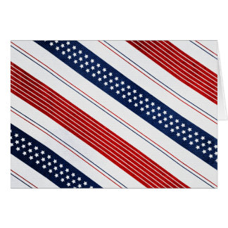 Independence Day Diagonal Stars and Stripes Card