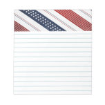 Independence Day Diagonal Stars and Stripes Note Pad