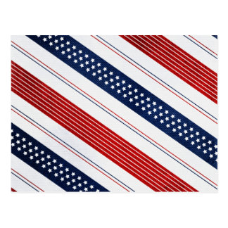 Independence Day Diagonal Stars and Stripes Postcard