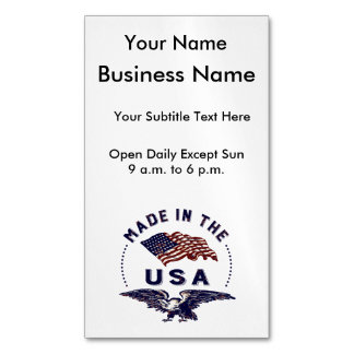 Independence Day Eagle and Flag Business Card Magnet