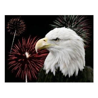 Independence day eagle postcard