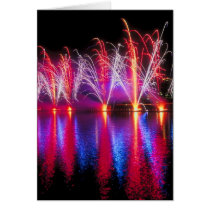 Independence Day Fireworks Card