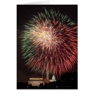 Independence Day Fireworks over Washington DC Card