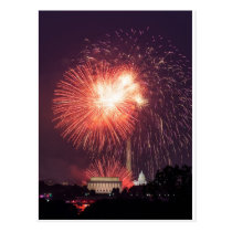 Independence Day Fireworks over Washington DC Postcard