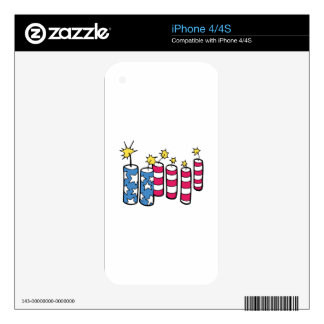 Independence Day Fireworks Skins For iPhone 4