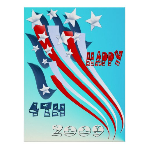 Independence Day Flag Poster