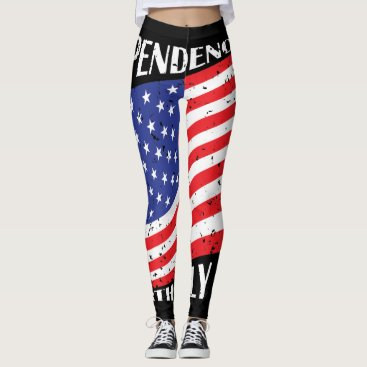 USA Themed Independence Day & Fourth July 2017 Leggings