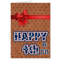 Independence Day fourth of july Card