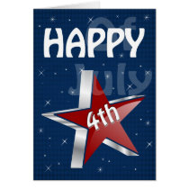 Independence Day fourth of july greetings Card