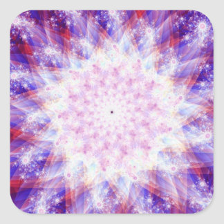 Independence Day Fractal Square Sticker