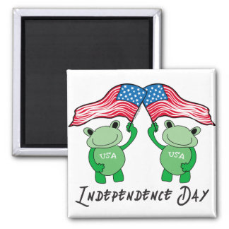Independence Day Frogs Magnet