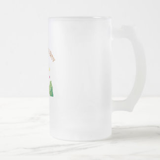 Independence Day Frosted Glass Beer Mug