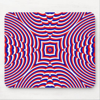 Independence Day geometric pattern Mouse Pad