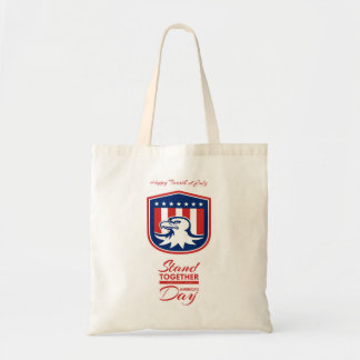 Independence Day Greeting Card - American Bald Eag Tote Bag
