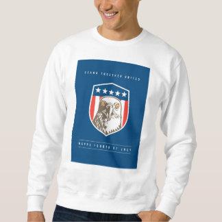 Independence Day Greeting Card-American Bald Eagle Sweatshirt