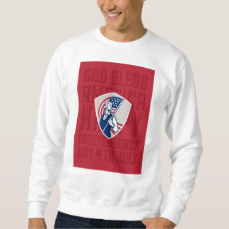 Independence Day Greeting Card-American Patriot Ho Sweatshirt