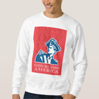 Independence Day Greeting Card-American Patriot So Sweatshirt