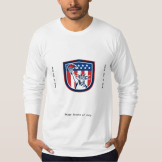 Independence Day Greeting Card-Statue of Liberty H T-Shirt