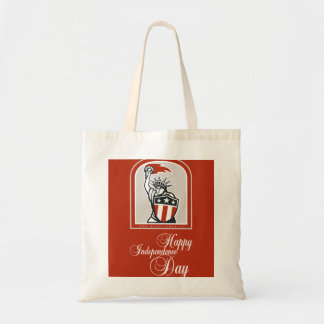 Independence Day Greeting Card-Statue of Liberty W Tote Bag