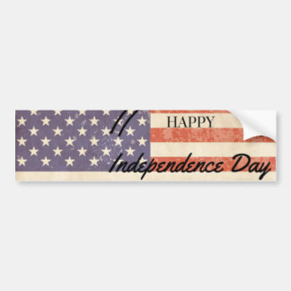 Independence Day - Happy 4th (fourth) July Car Bumper Sticker