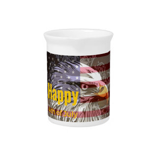 Independence Day - Happy 4th (fourth) July Drink Pitcher