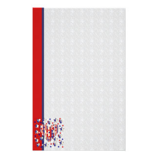 Independence Day Hearts Stationery