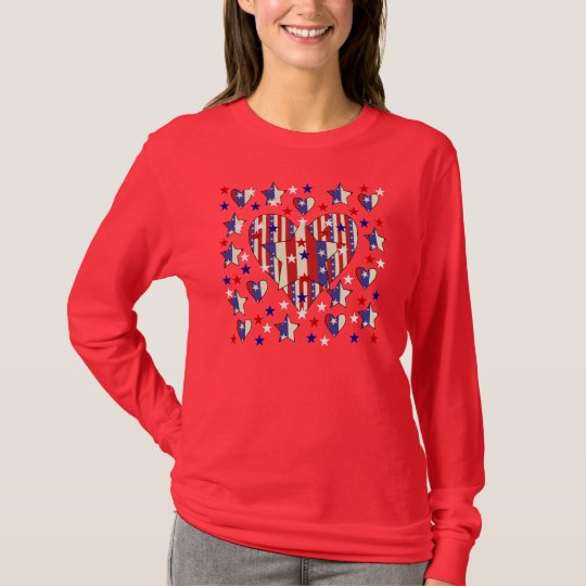 Independence Day Hearts T-Shirt
