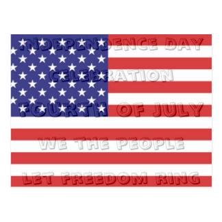 Independence Day Hidden Message Postcard