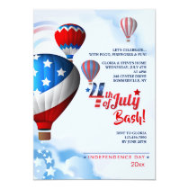Independence Day Hot Air Balloons Invitation