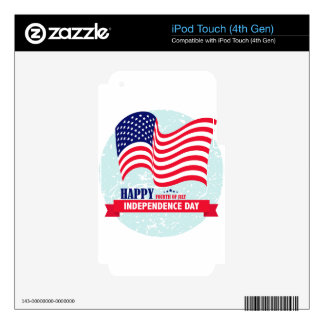 Independence-Day iPod Touch 4G Decal