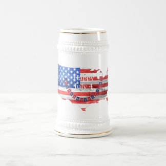 Independence Day July 4 American Flag Country Beer Stein