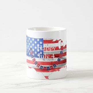 Independence Day July 4 American Flag Country Coffee Mug