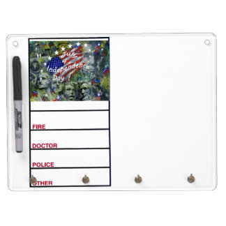 Independence Day, July 4 Dry-Erase Board