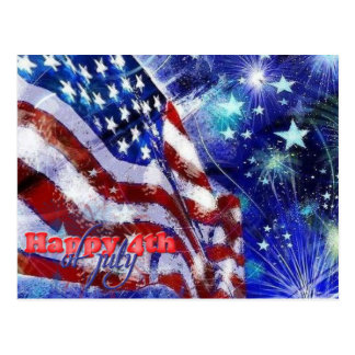 Independence Day & July 4 Postcard