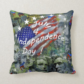 Independence Day, July 4 Throw Pillows