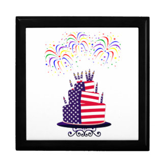 Independence Day July 4th Cake Gift Box