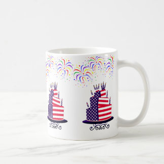 Independence Day July 4th Cake Mugs