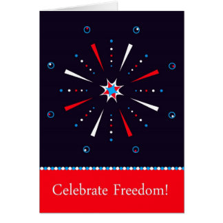 Independence Day July 4th Firework Greeting Card