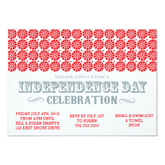 Independence Day July 4th Invitation