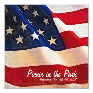 Independence Day July 4th Picnic Invitation