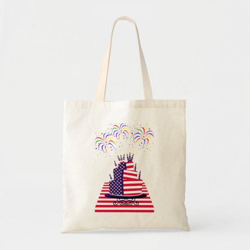 Independence Day July 4th Tote Budget Tote Bag