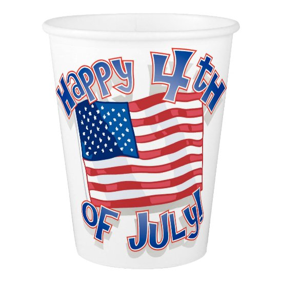 Independence Day July 4th usa united states Paper Cup