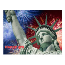 Independence Day & July fourth Postcard