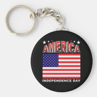 Independence Day Keychain
