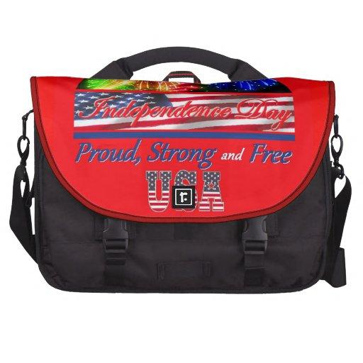 Independence Day Laptop Messenger Bag